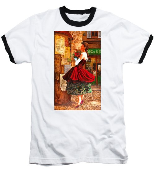 After The Ball Baseball T-Shirt by Igor Postash