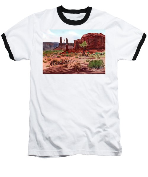 Afternoon In Monument Valley Baseball T-Shirt by Donald Maier