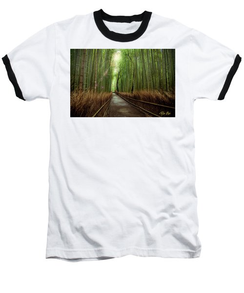Afternoon In The Bamboo Baseball T-Shirt by Rikk Flohr