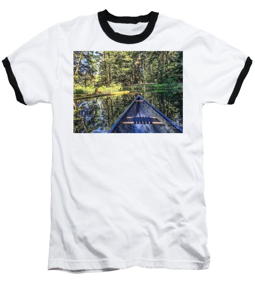 Afternoon Paddle Baseball T-Shirt by William Wyckoff