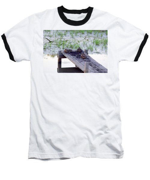 Baseball T-Shirt featuring the photograph Afternoon Rest by Deborah  Crew-Johnson