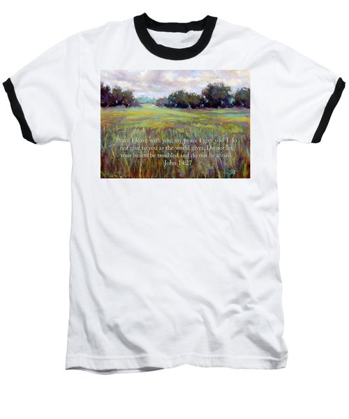 Afternoon Serenity With Bible Verse Baseball T-Shirt