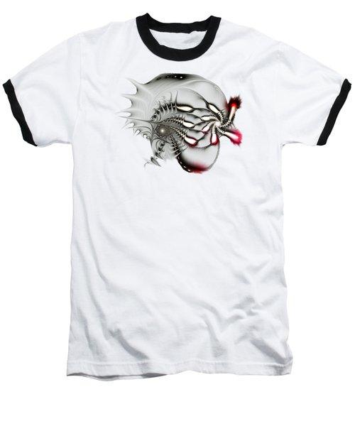 Aggressive Grey Baseball T-Shirt