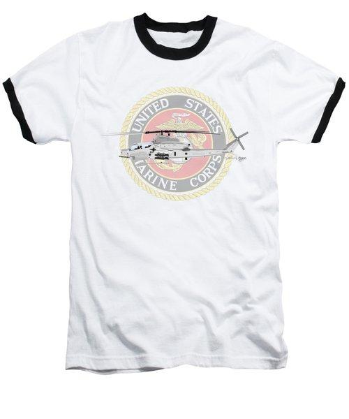 Ah-1z Viper Usmc Baseball T-Shirt by Arthur Eggers