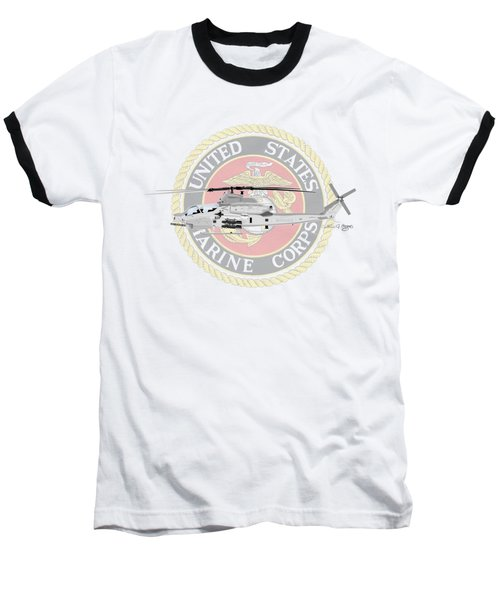 Ah-1z Viper Usmc Baseball T-Shirt