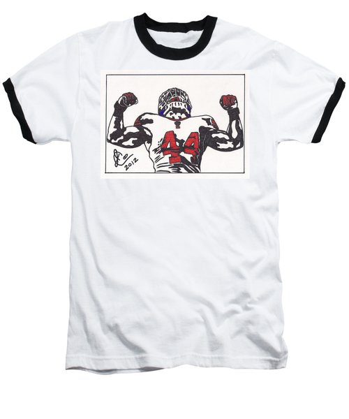 Baseball T-Shirt featuring the drawing Ahmad Bradshaw by Jeremiah Colley