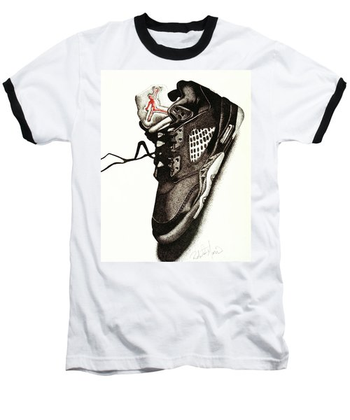 Air Jordan Baseball T-Shirt by Robert Morin