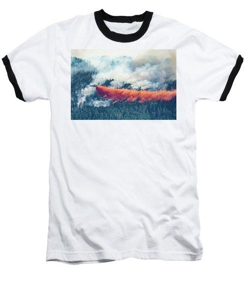 Air Tanker On Crow Peak Fire Baseball T-Shirt