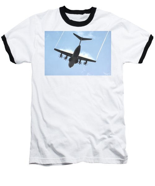 Airbus A400m Baseball T-Shirt by Tim Beach