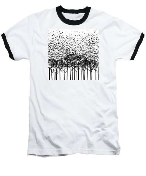 Aki Monochrome Baseball T-Shirt by Cynthia Decker