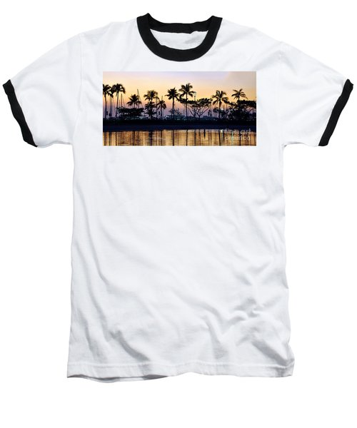 Ala Wai Harbor Baseball T-Shirt by Gina Savage