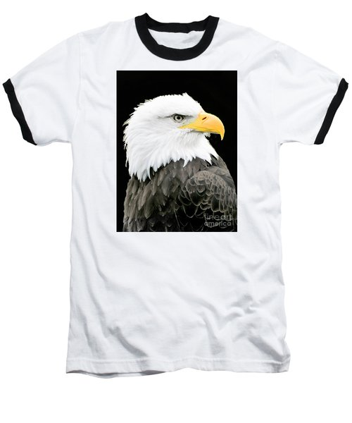 Alaskan Bald Eagle Baseball T-Shirt by Merton Allen