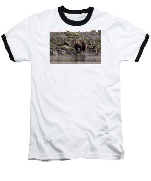 Alaskan Brown Bear Dining On Mollusks Baseball T-Shirt