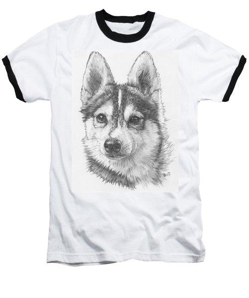 Alaskan Klee Kai Baseball T-Shirt by Barbara Keith