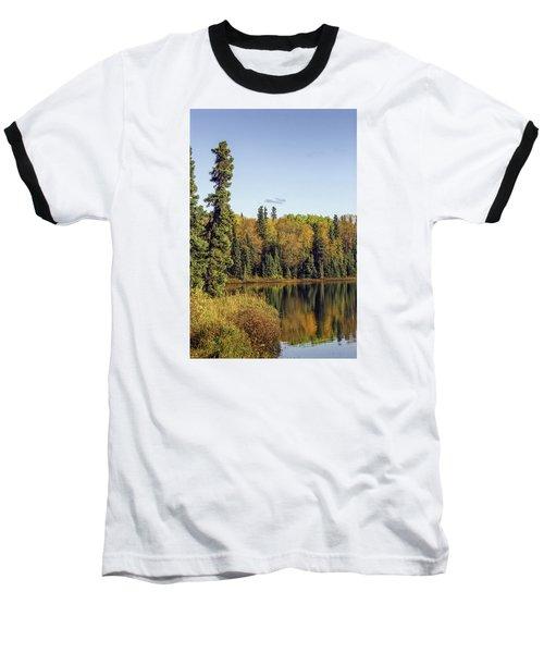 Alaskan Lake In Autumn Baseball T-Shirt