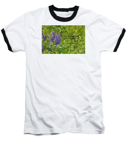 Baseball T-Shirt featuring the photograph Alaskan Lupine Heaven by Diane E Berry