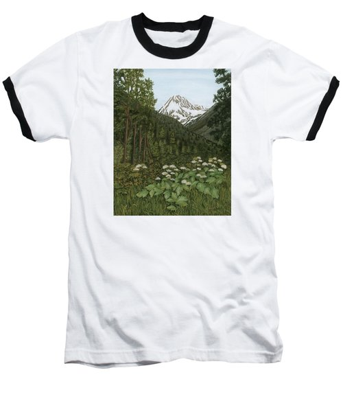 Alaskan Mountains Baseball T-Shirt