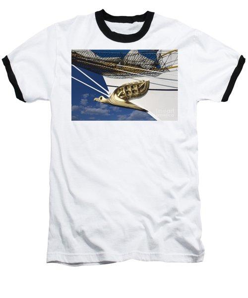 Baseball T-Shirt featuring the photograph Albatross Figurehead by Heiko Koehrer-Wagner