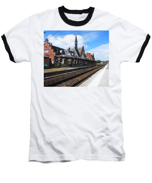 Baseball T-Shirt featuring the photograph Albert Train Station, France by Therese Alcorn