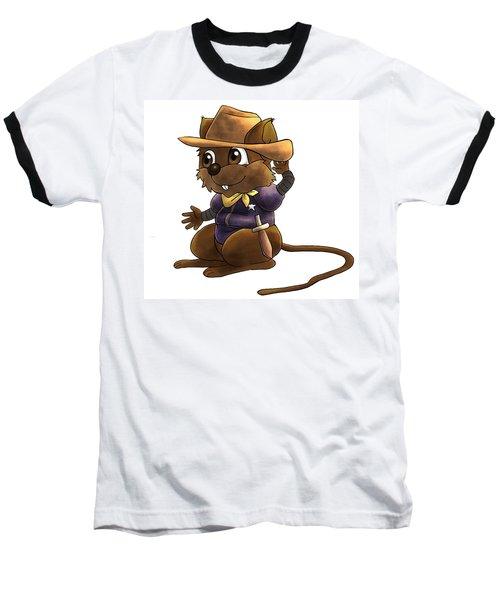 Deputy Alfred Baseball T-Shirt by Reynold Jay