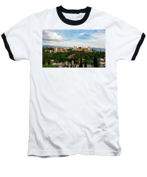 Alhambra In The Evening Baseball T-Shirt by Marion McCristall