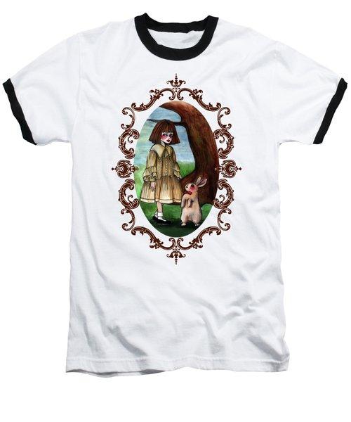 Alice Pleasance Liddel Baseball T-Shirt by Akiko Okabe