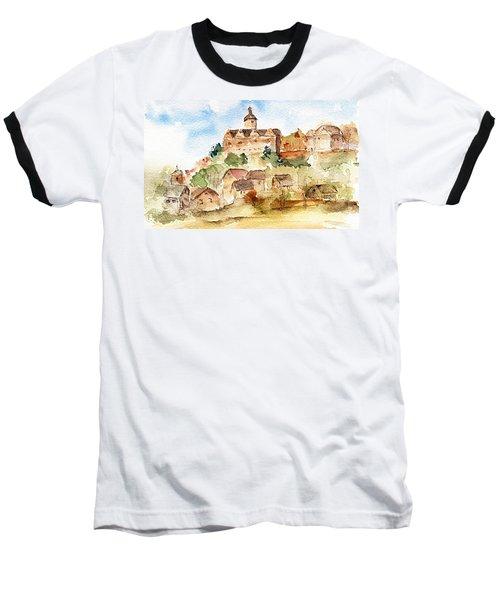 Alice's Castle Baseball T-Shirt by Anne Duke
