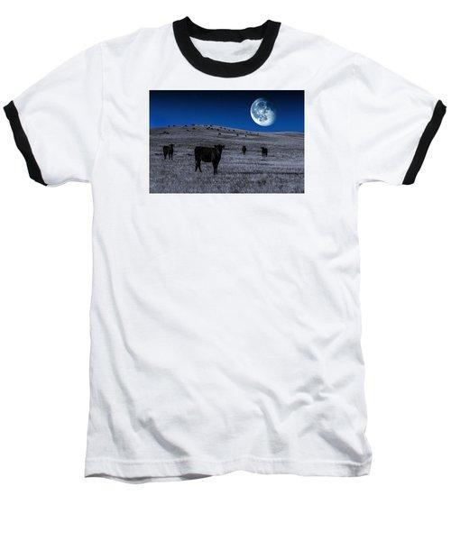 Alien Cows Baseball T-Shirt