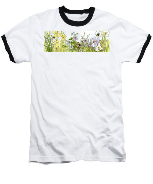 Alive In A Spring Garden Baseball T-Shirt by Laurie Rohner