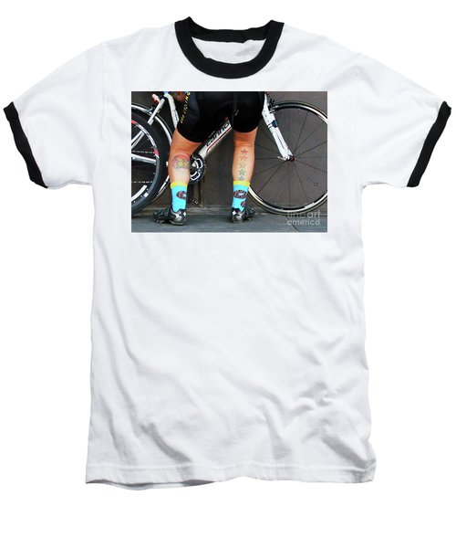 Baseball T-Shirt featuring the photograph All Star Cyclist by Joe Jake Pratt