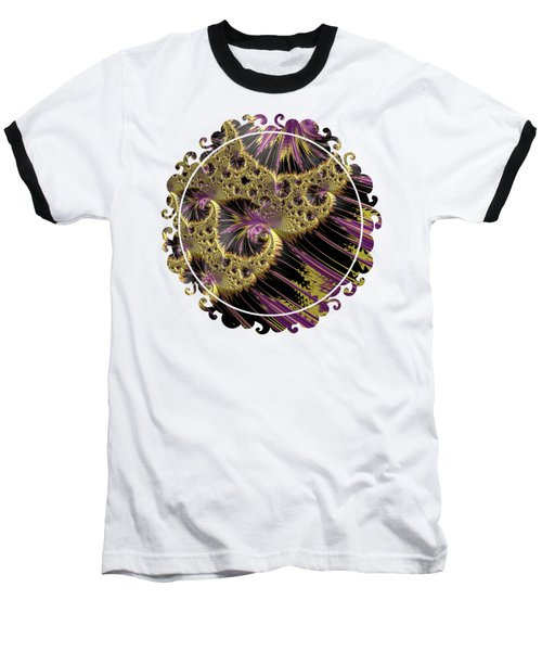 All That Glitters Baseball T-Shirt by Becky Herrera