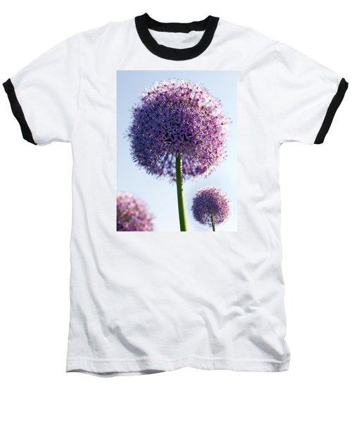 Allium Flower Baseball T-Shirt