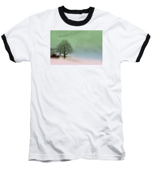 Baseball T-Shirt featuring the photograph Almost A Dream - Winter In Switzerland by Susanne Van Hulst