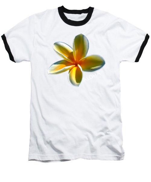 Aloha Plumeria Baseball T-Shirt by Pamela Walton