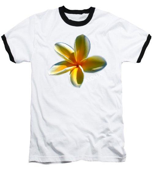 Aloha Plumeria Baseball T-Shirt