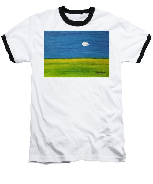 Baseball T-Shirt featuring the painting Alone And Fine by Judith Rhue