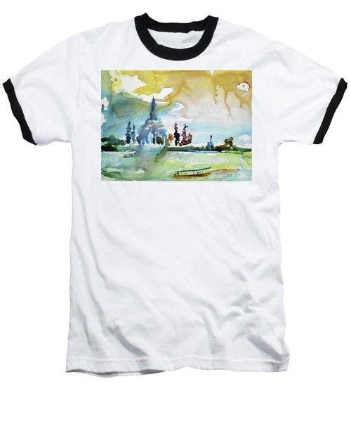 Along The Chao Phaya River Baseball T-Shirt by Tom Simmons
