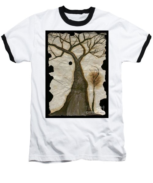 Along The Crumbling Fork In The Road Of The Tree Of Life Acfrtl Baseball T-Shirt by Talisa Hartley