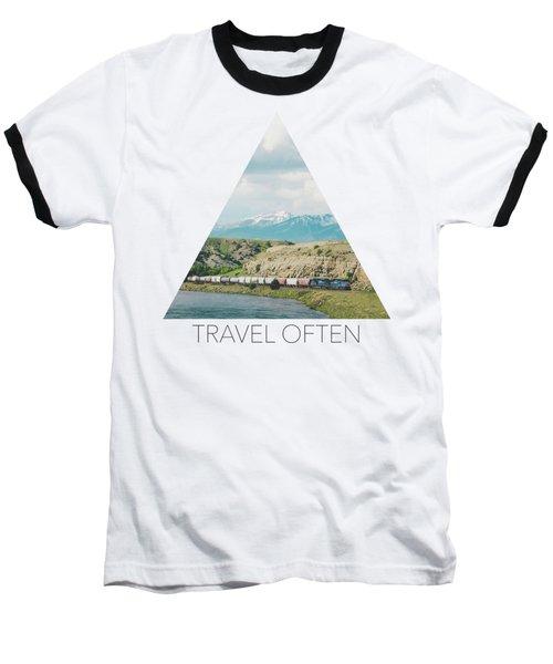 Along The Yellowstone Baseball T-Shirt