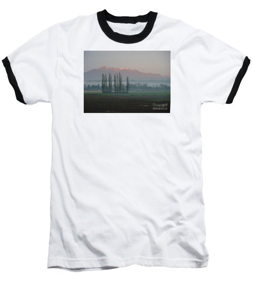 Baseball T-Shirt featuring the photograph Alpenglow  by Jeanette French