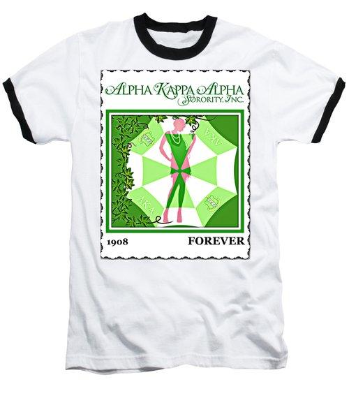 Alpha Kappa Alpha Baseball T-Shirt by Lynda Payton