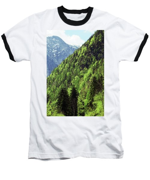 Alpine View In Green Baseball T-Shirt