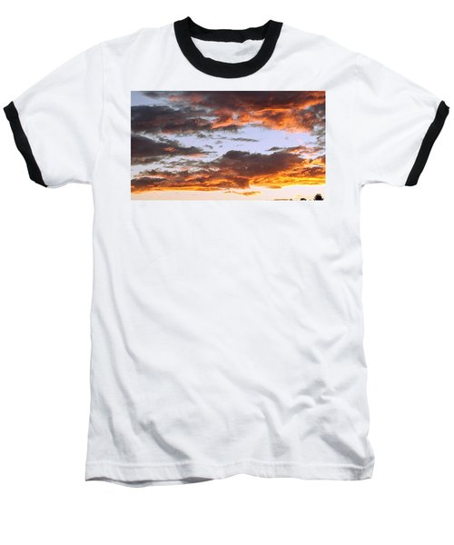 Glorious Clouds At Sunset Baseball T-Shirt