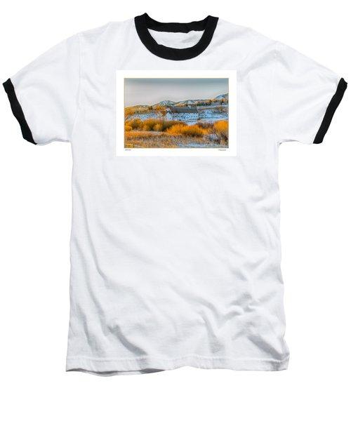 Amber Grass Baseball T-Shirt by R Thomas Berner