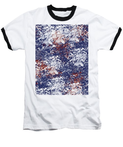 America Watercolor Baseball T-Shirt by P S