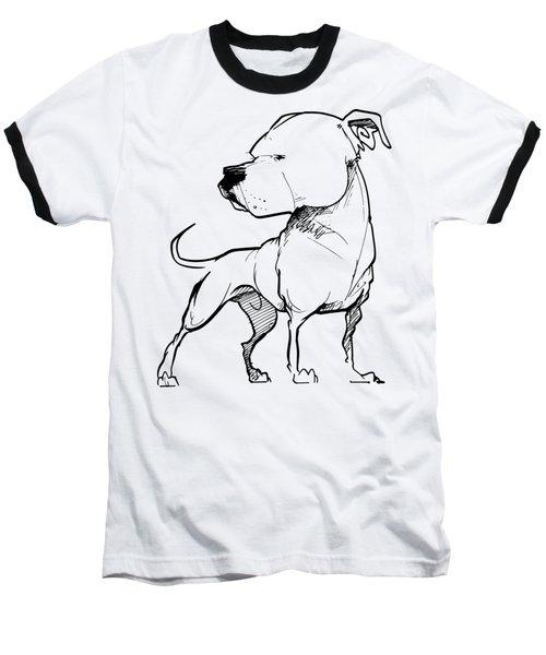 American Bulldog Gesture Sketch Baseball T-Shirt