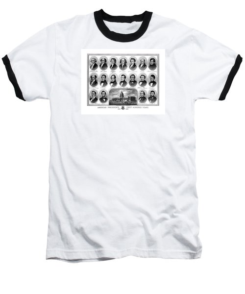American Presidents First Hundred Years Baseball T-Shirt by War Is Hell Store