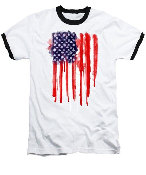American Spatter Flag Baseball T-Shirt