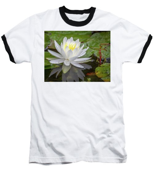 American White Water Lily Baseball T-Shirt