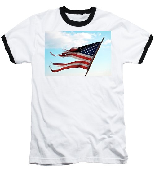 America's Liberty Prevails Baseball T-Shirt by Loriannah Hespe